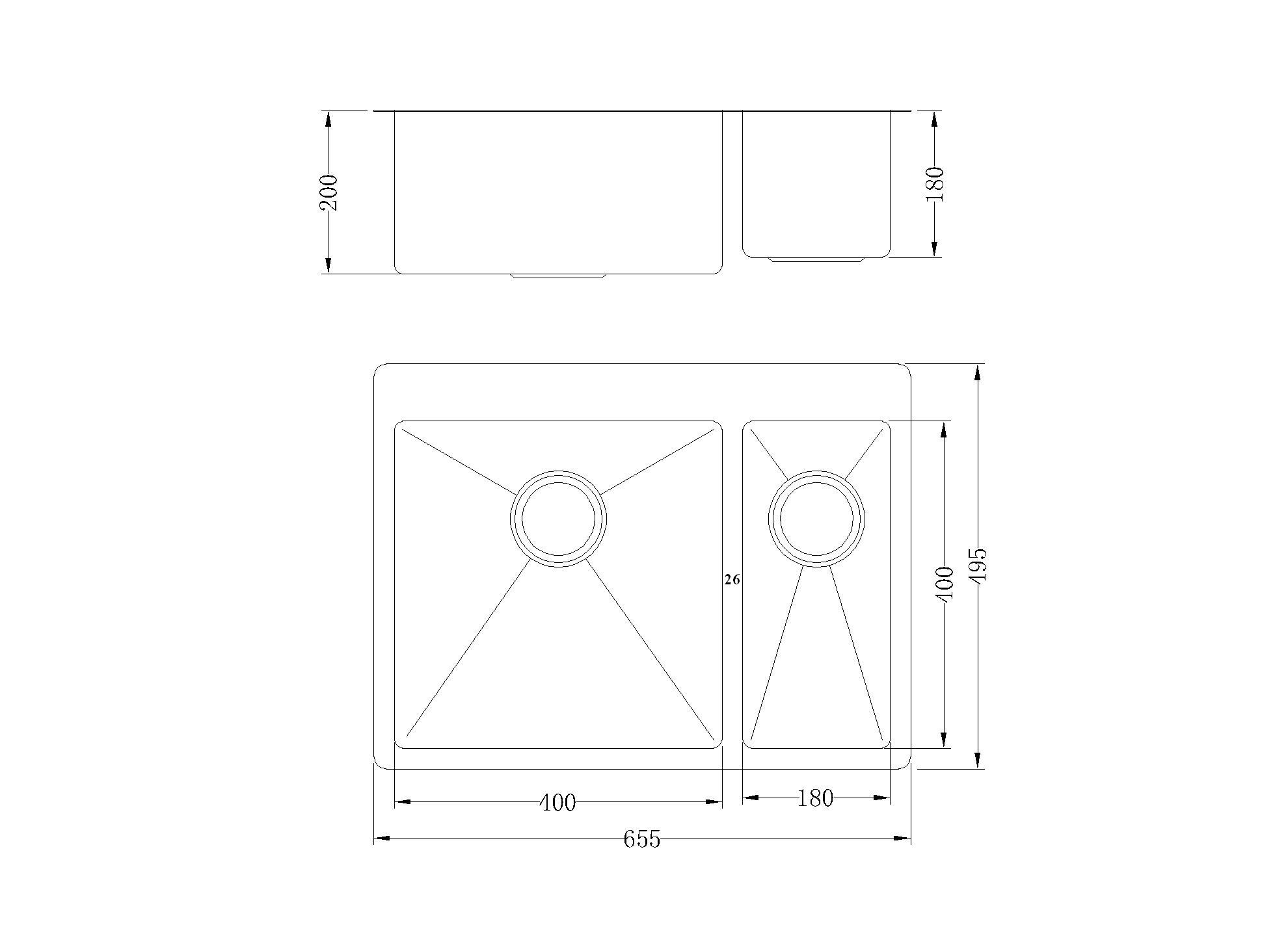 Commercial Kitchen Parts Technical Drawing